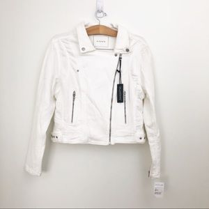 BLANK NYC White Hello Moto Jean Jacket